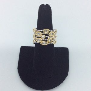 Multi-Stone CZ Cable Ring
